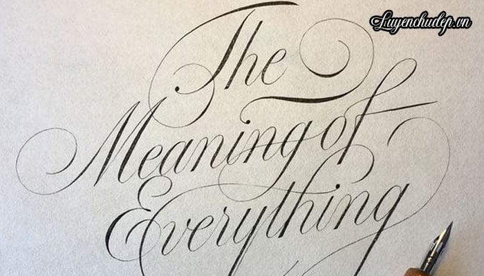 Luyện chữ Calligraphy bằng bút quản nghiêng chấm mực