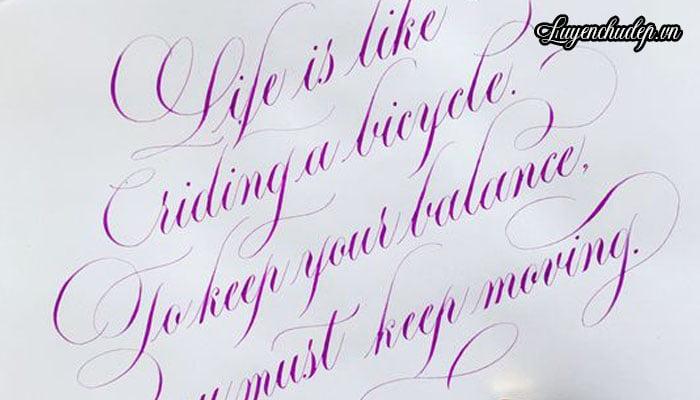 Luyện chữ Calligraphy có khó không? Cách viết Calligraphy