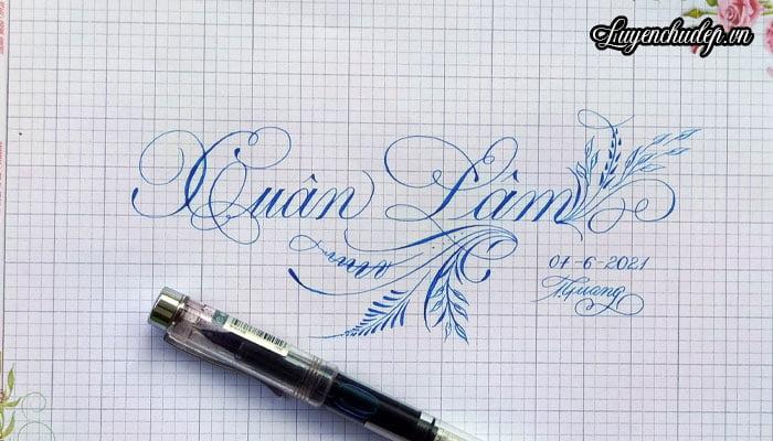 Luyện viết chữ Calligraphy cho người mới bắt đầu