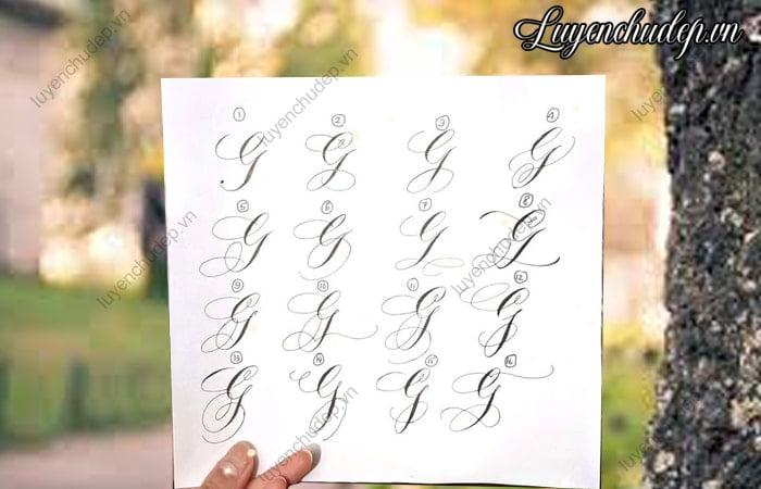 Cách viết chữ G hoa sáng tạo