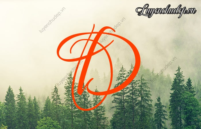 Cách viết chữ d thường, D in hoa, D hoa sáng tạo