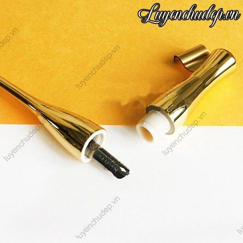 Cán bút quản nghiêng mạ vàng