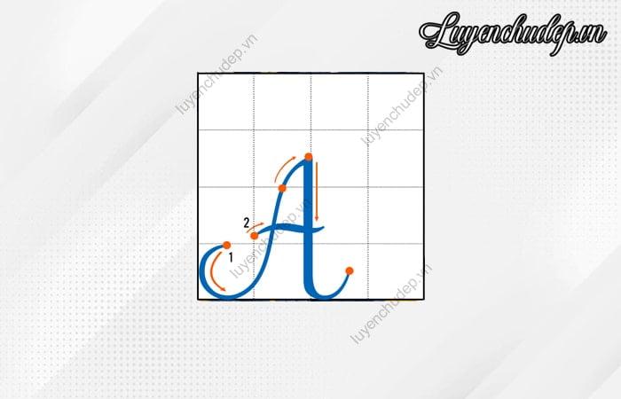 Cách viết chữ A in hoa