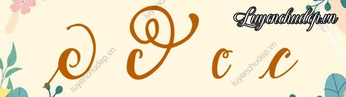Cách viết chữ c thường sáng tạo cách điệu