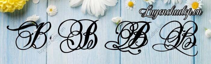 Mẫu chữ B Hoa Sáng Tạo