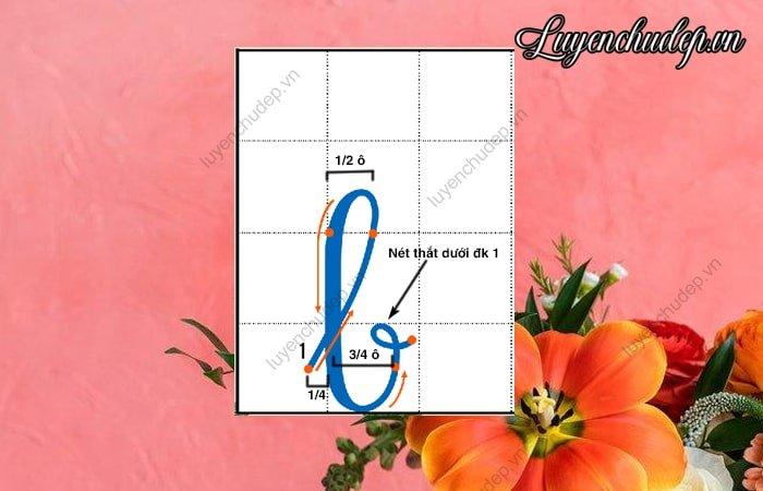 Chữ b thường chiều cao 2,5 ô li
