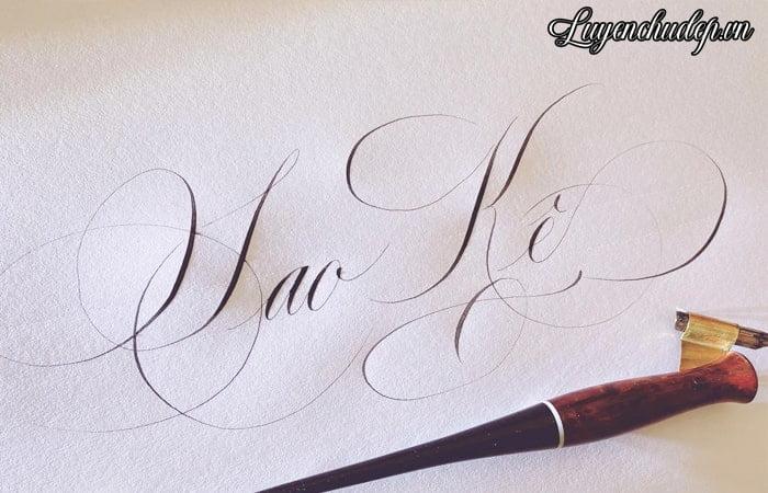 Để viết Calligraphy thành công hãy luyện thanh đậm tốt