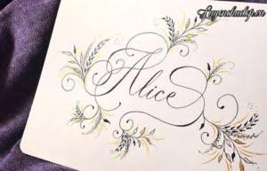 Cách viết chữ A Calligraphy Copperplate Script