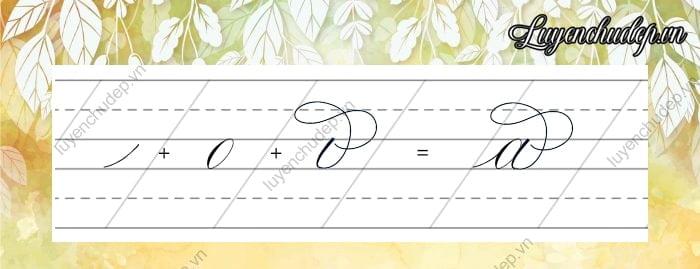 Cách viết chữ a thường cách điệu Calligraphy Copperplate