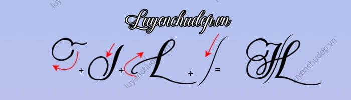 Cách viết chữ H hoa sáng tạo