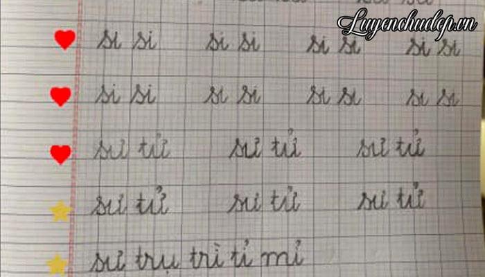 Khích lệ bé lớp 1 luyện chữ đẹp bằng sticker