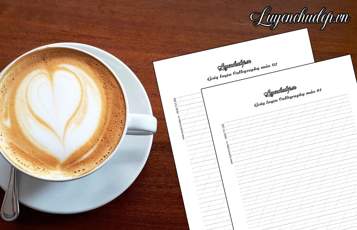 File tải PDF giấy luyện viết Calligraphy