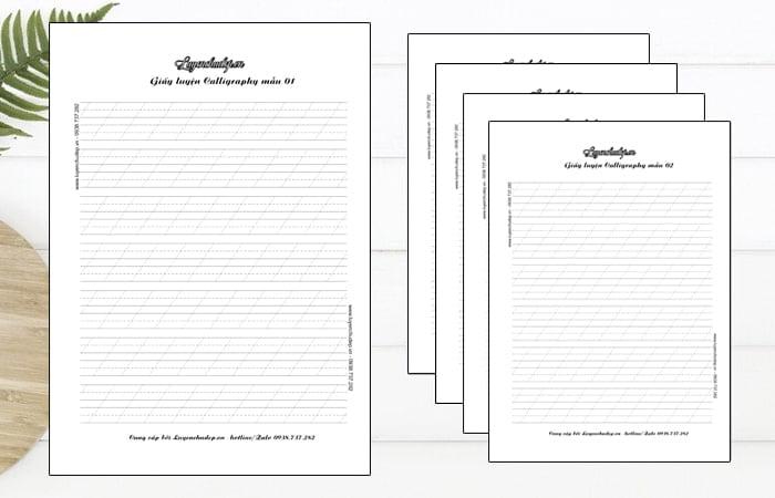 File PDF giấy luyện viết Calligraphy