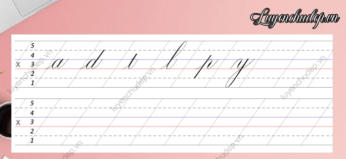 Mẫu giấy luyện chữ Calligraphy chuẩn