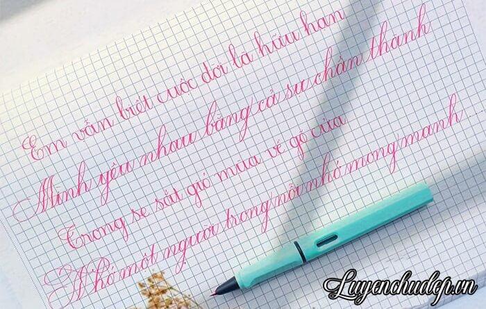 Luyện viết chữ đẹp bao lâu Ai luyện được chữ đẹp