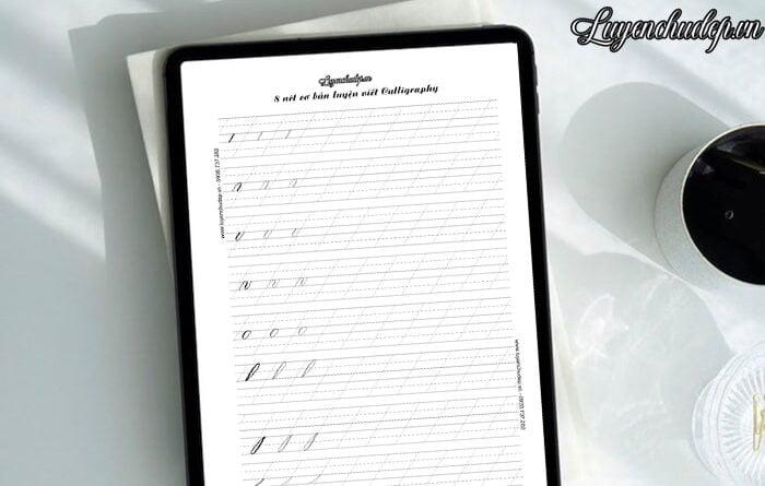 Luyện viết nét cơ bản calligraphy