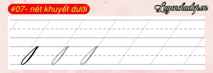 06 nét khuyết dưới Calligraphy