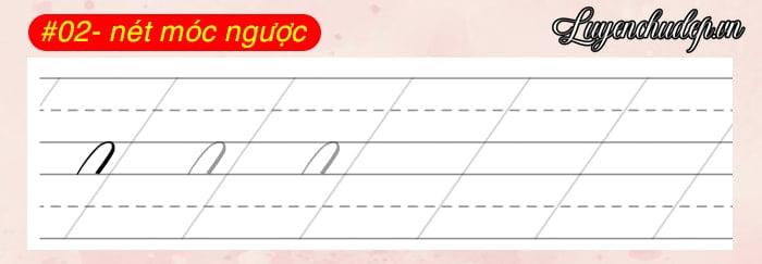 02 nét móc ngược luyện Calligraphy