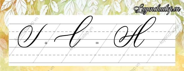 Cách viết chữ A Hoa sáng tạo Calligraphy Copperplate