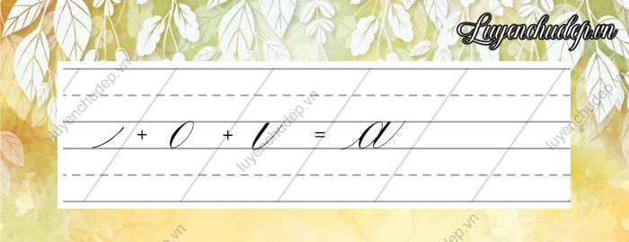 Cách viết chữ a thường Calligraphy Copperplate
